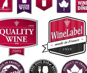 Stylish Wine Labels vector