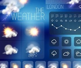 Weather Design Elements art vectors material