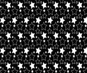 Simple Stars Pattern vector