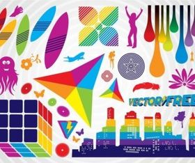 Colorful Clip Art Graphics vectors material