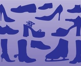 Shoes vectors material