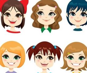 Childrens Faces free vector