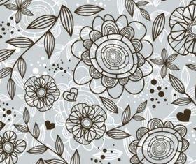 Flower Doodle Pattern vector