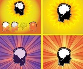 Brain shiny vector