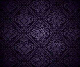 Dark Purple Pattern background set vector