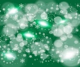 Green Snow Flake Background vector graphics