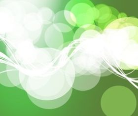 Green Circles Background vector material