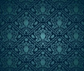 Blue Green Decorative Pattern vector graphics