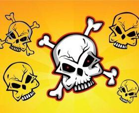 Skulls Clip Art vectors graphics