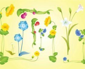 Beautiful Flowers Vectors
