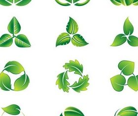 Green Eco Logotypes vector