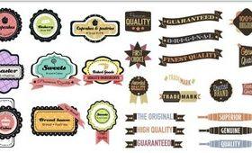 Retro Labels graphic vector