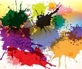 Splashes And Splatters background vector