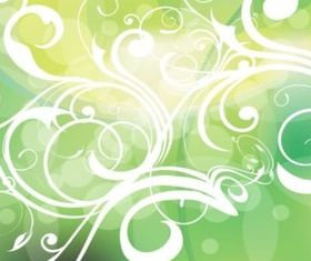 Green Gradients Filigree vector design