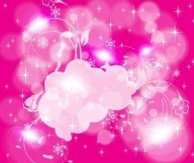 Pink Winter Background vector