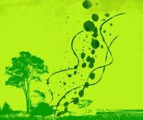 Green Spring Background vector graphic