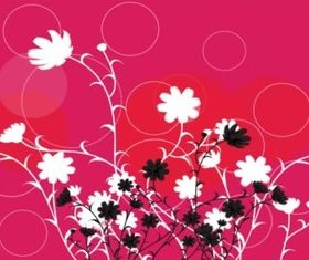 Flowers Circles Design background vector