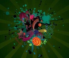 Grunge Design Footage vectors graphic