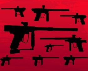 Paintball Guns vector