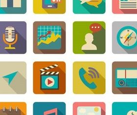Flat Icons graphic vectors material