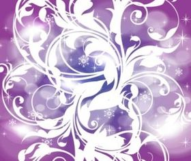 Purple Winter Background set vector