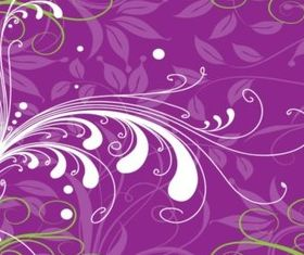 Purple Plants Background vector