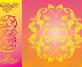 Free Floral Scrolls vector material