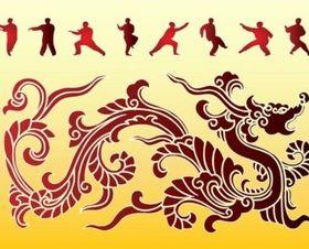 Dragon Kung Fu vector