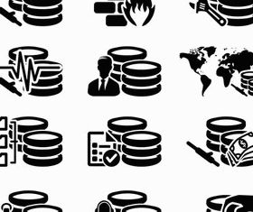 Database Icons art vector