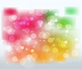 Stars and Color Glows background vector design