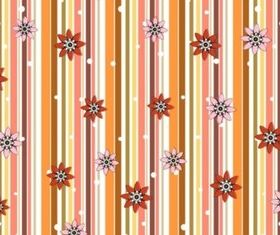 Flowers And Stripes Pattern set vector