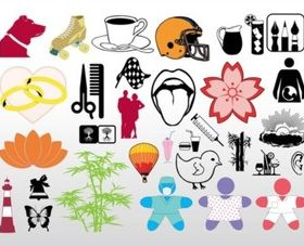 Cool Clip Art Pack vector