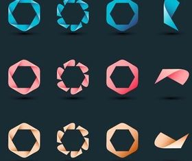 Creative Logotypes 5 vector graphics