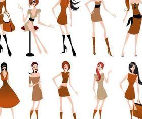 Fashion Girls free vector