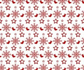 Red White Christmas Pattern vector