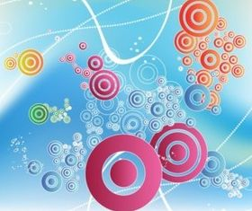 Floating Circles Design background vectors