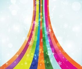 Rainbow Magic background vector