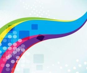Rainbow Swoosh Backdrop background vector design
