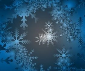 Blue Snow Background Illustration vector