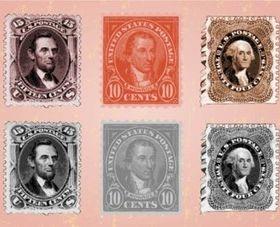 USA Stamps shiny vector
