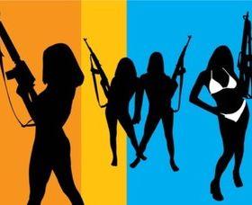 Girls with Guns vector