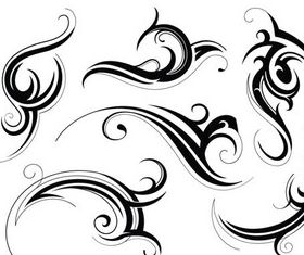 Stylish Tatoo free vectors