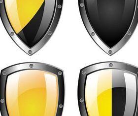 Metal Shields free vectors material