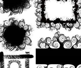 Floral Grunge Frames art design vectors