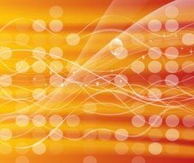 Orange Glowing Circles Background Illustration vector
