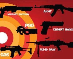 Weapons War vector