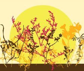Autumn Flowers vector