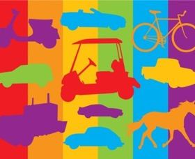 Transport Vehicles Graphics vector