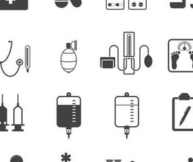 Medical Black Icons art vector