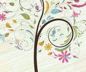 Colorful Tree Illustration design vectors